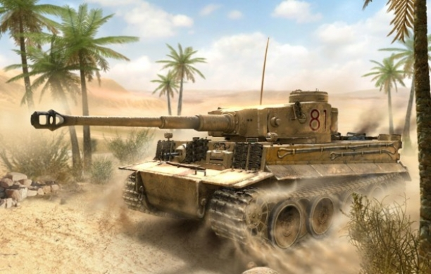 Steel Tigers roaming the Tunisian Desert in 1943