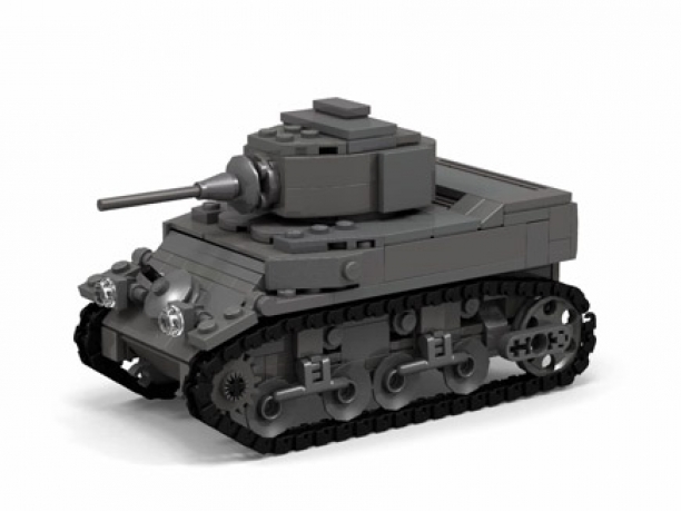 How To Build A World War II m3/m5 Stuart Tank From Lego