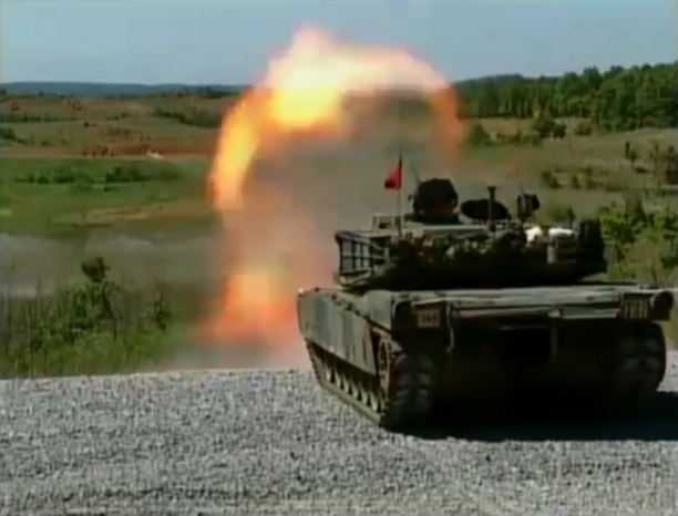 Tank Firing Mayhem (Abrams, Challenger 2)