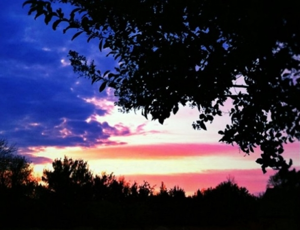 Amazing View Of A Patriotic Sky