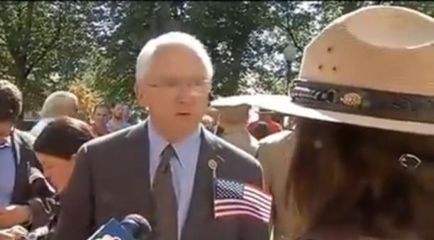 Congressman Shames Park Ranger For Closing Of Memorial