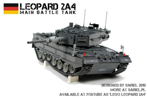 Leopard 2A4 Created From Lego