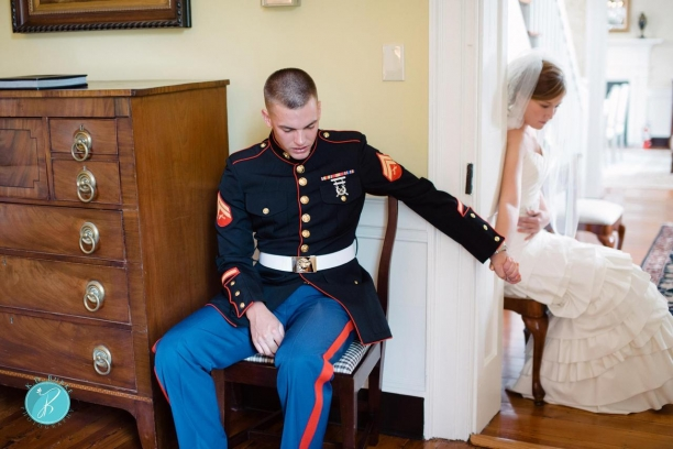 What Did This Marine Say In A Prayer On His Wedding Day Is Inspiring