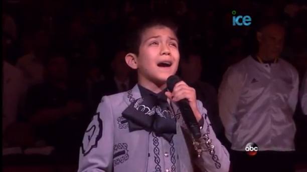 Young Hispanic Bashed For Nailing National Anthem At NBA Finals