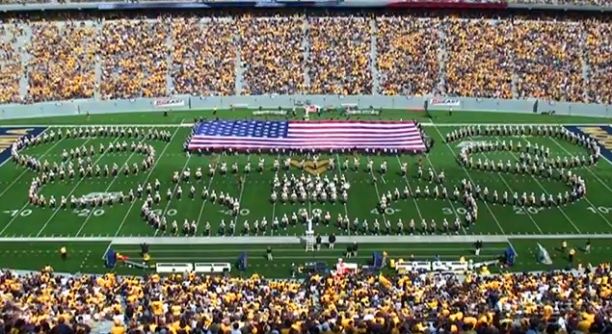West Virginia University Marching Band Armed Forces Salute