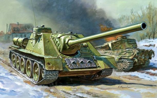 Su-100 (The Soviet Tank Destroyer)