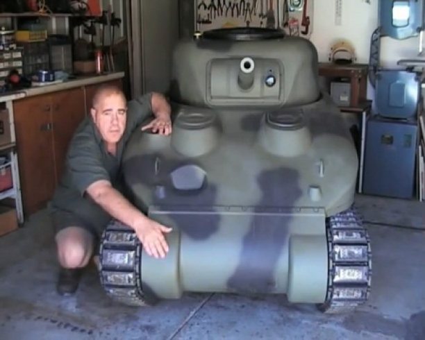 How to build your own Sherman Tank...I want one of those
