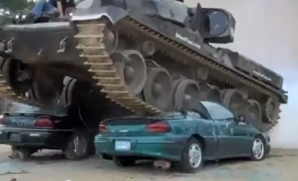 Cars Crushed by Tanks (Compilation)