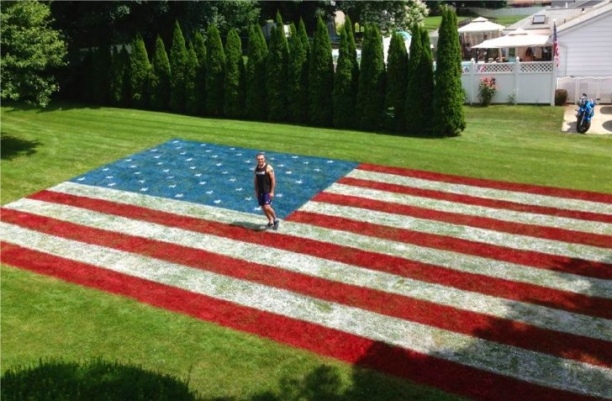 Independence Day Pride Gone Extreme In The Front Yard