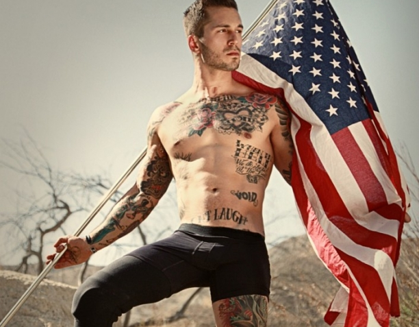 Young U.S. Marine Honored from Disaster to Underwear Model