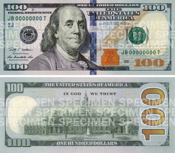 Say Hello To The New $100 Bill (Target Date, Oct. 8)