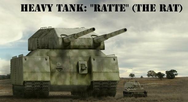 The super-heavy tank Landkreuzer P. 1000 Ratte