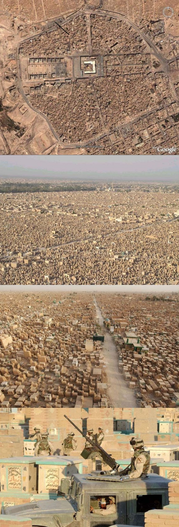 On Google Maps, You'd Think This Is A Large City In The Desert. But Zoom In And...WOW