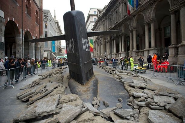 Epic Fail: A Brave Submarine Plows the Streets of Milan