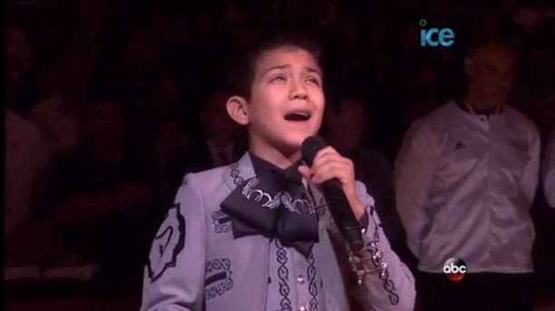 Young Hispanic Bashed for Nailing National Anthem at NBA Finals
