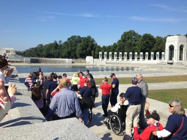 WWII Veterans Defy Police Orders At Their Memorial