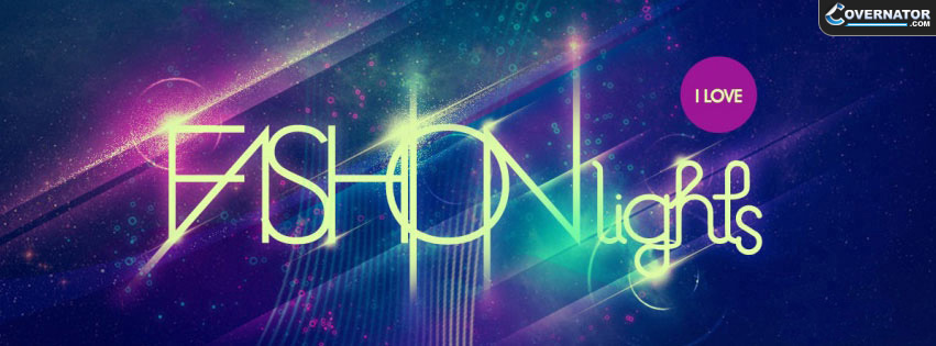 i love fashion lights Facebook cover