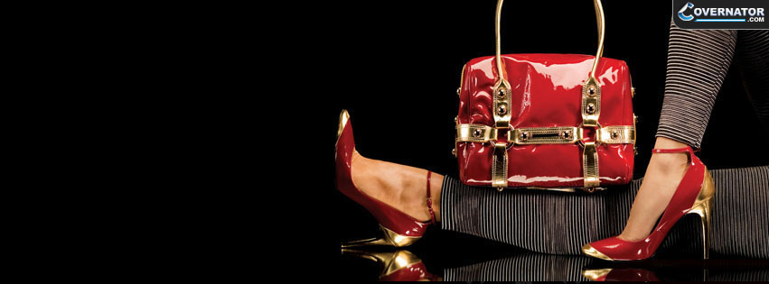 Red Heels And Bag Facebook Cover
