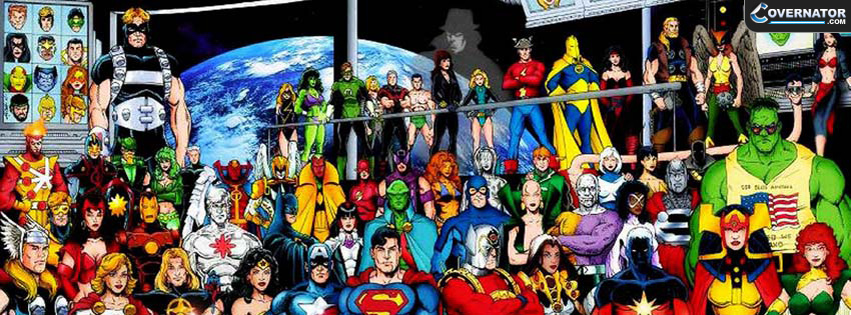 Superheroes Facebook cover