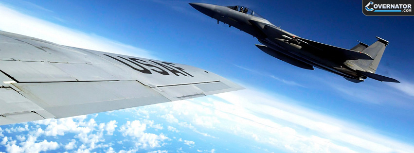 F-15 Eagle And kc135 Facebook Cover