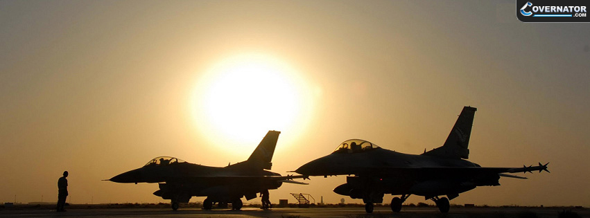 F-16 Fighting Falcon Facebook Cover