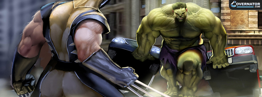 Hulk Vs Wolverine Facebook Cover