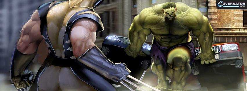 Hulk vs Wolverine Facebook cover