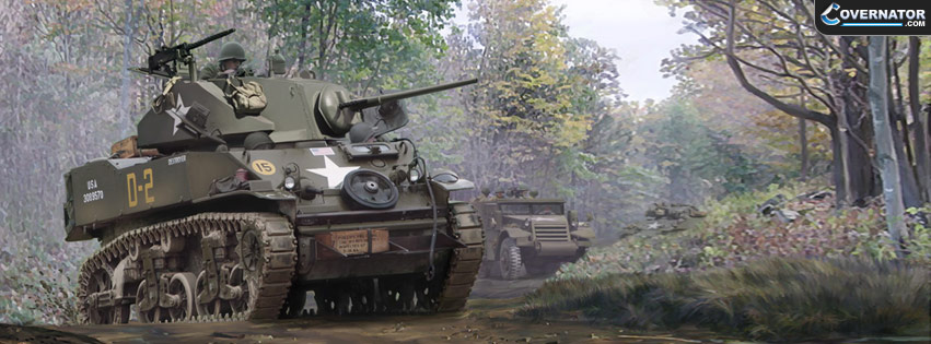 M5A1 Stuart (Art By Mark Karvon) Facebook Cover