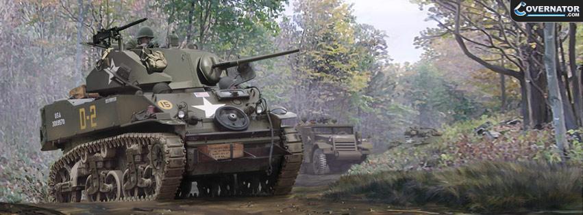 M5A1 Stuart (art by Mark Karvon) Facebook cover