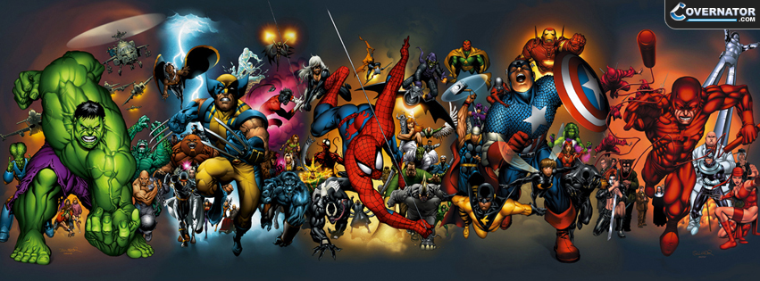Marvel super heroes Facebook cover