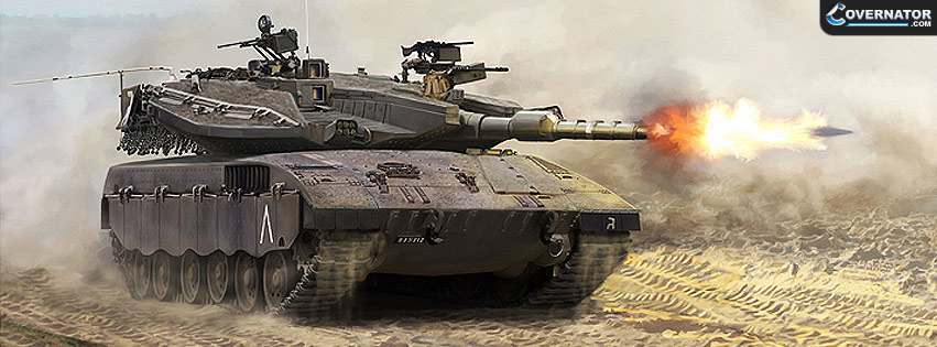 Merkava Mk III BAZ (art by Mark Karvon) Facebook cover