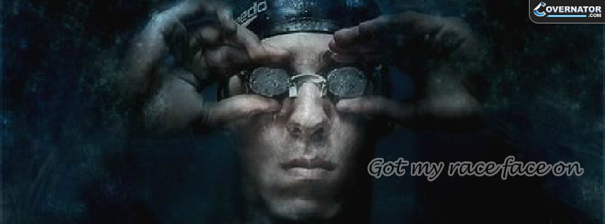 Michael Phelps: Got My Race Face On Facebook Cover