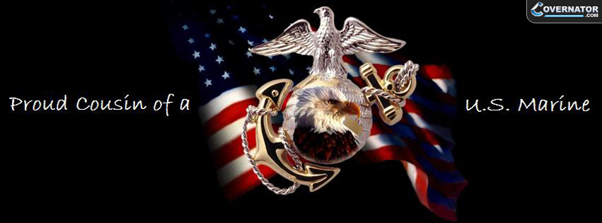 Proud Cousin Of A Marine Facebook Cover