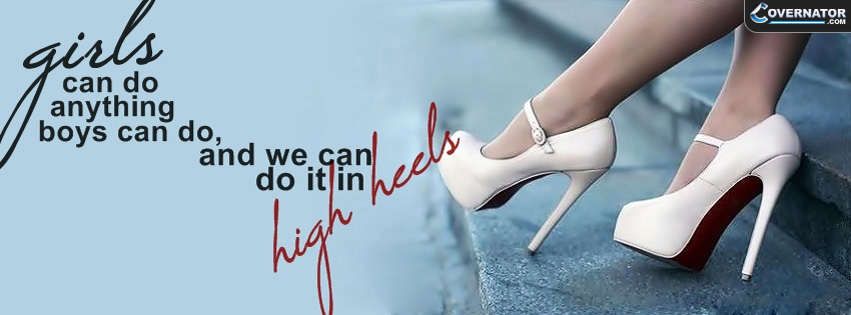 girls can do anything boys can do... Facebook cover
