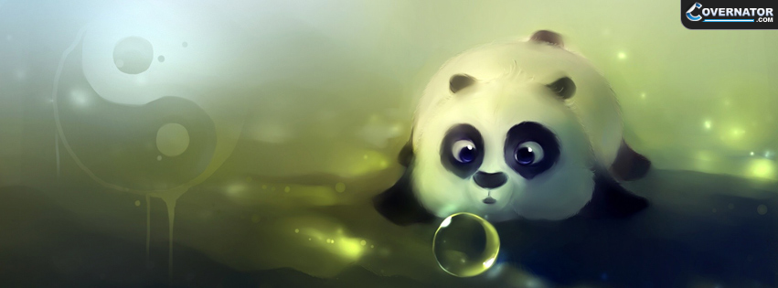 Cute panda Facebook cover