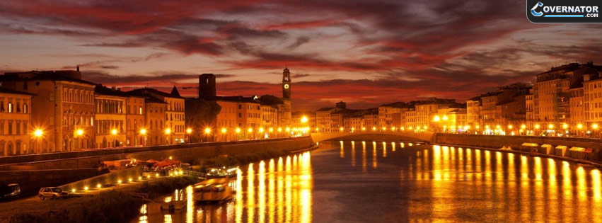 Venice City Nightfall Facebook cover