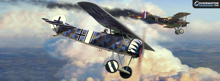 Fokker D.VIII 1918 (art by Mark Karvon) Facebook cover