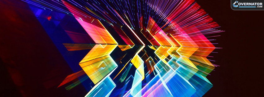 techno lights Facebook cover