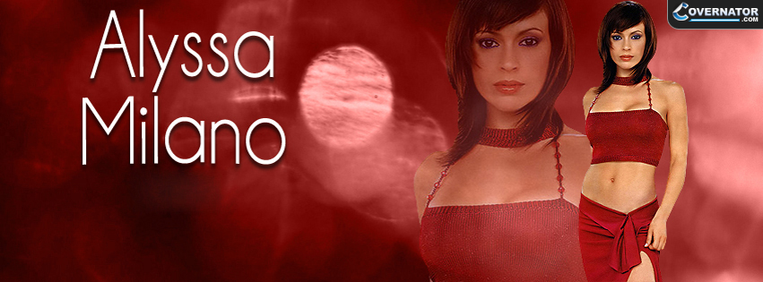 Alyssa Milano Facebook Cover