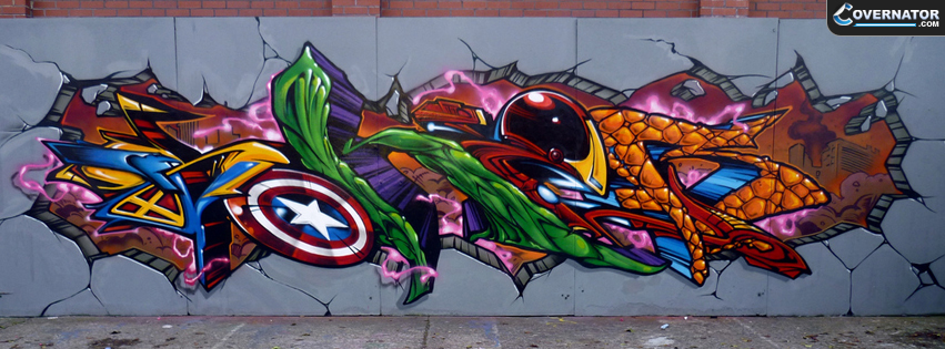 Avengers Graffiti Facebook cover