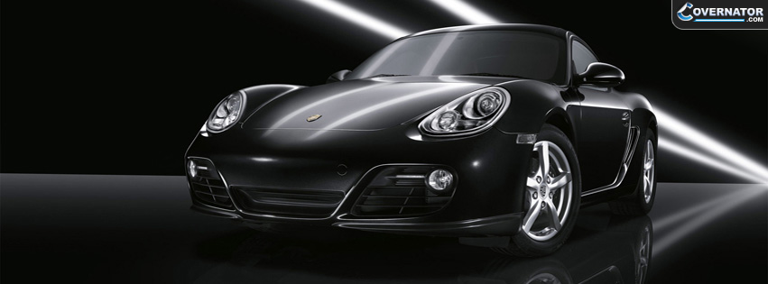 black porsche cayman Facebook cover