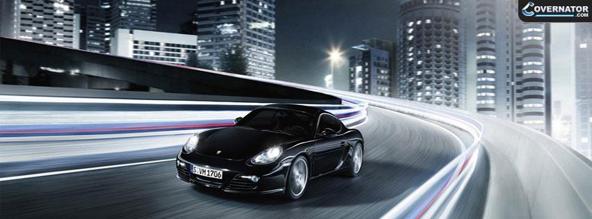 Black Porsche Cayman Facebook Cover