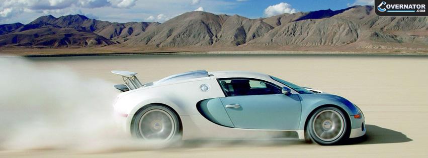 Blue-White Bugatti Veyron Facebook Cover