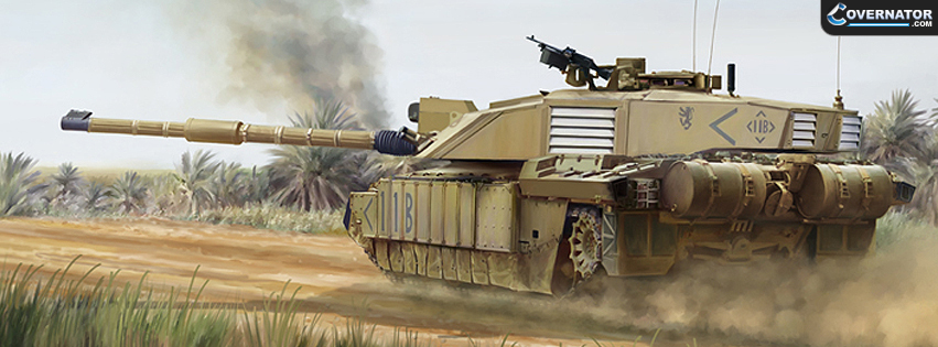 British Challenger 2 (Art By Mark Karvon) Facebook Cover