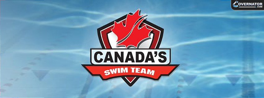 Canada's swim team Facebook cover