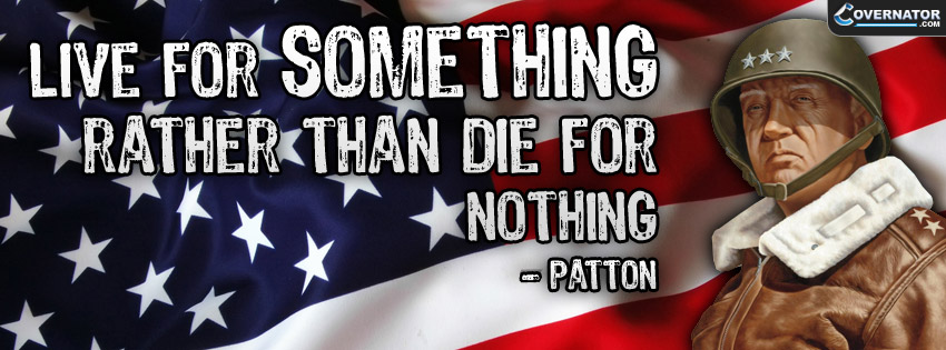 live for something... Facebook cover