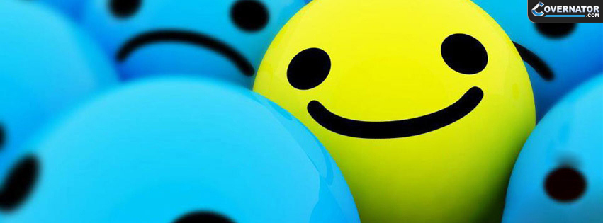 Smiley face Facebook cover