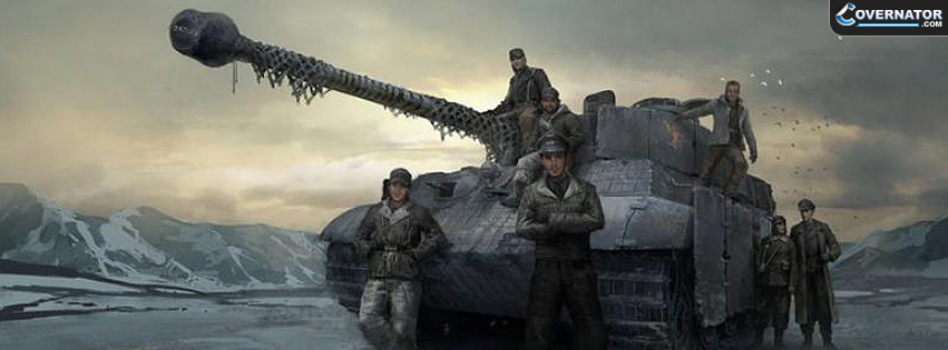 Panzer With Crew Facebook Cover