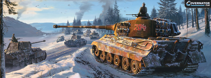 King Tiger advancing Facebook cover