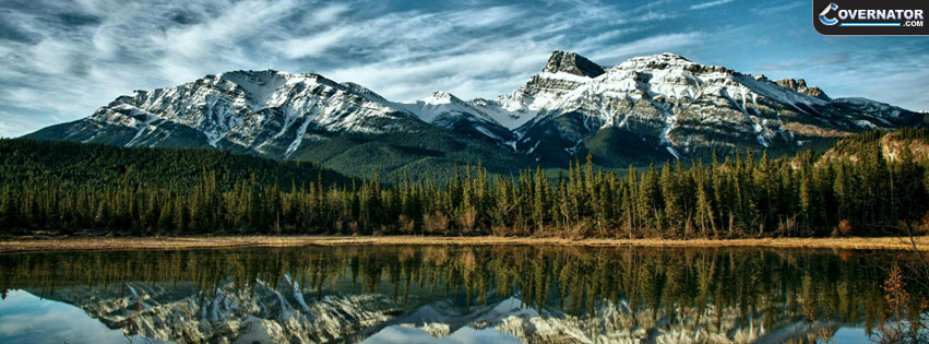 canadian mountains Facebook cover